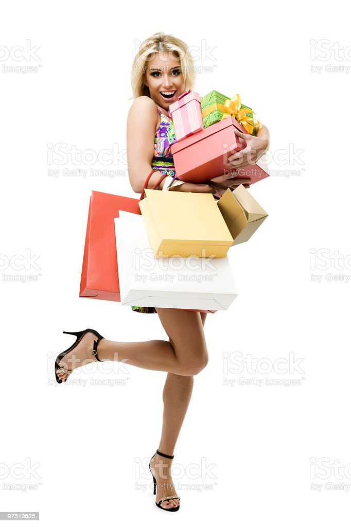 Shopaholic royalty-free stock photo