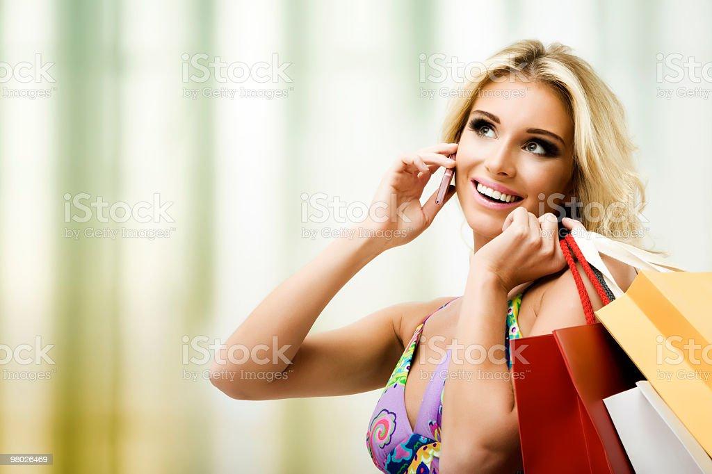 Maniaco dello shopping foto stock royalty-free