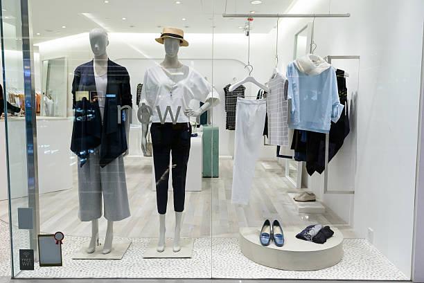 shopfront display window stock photo