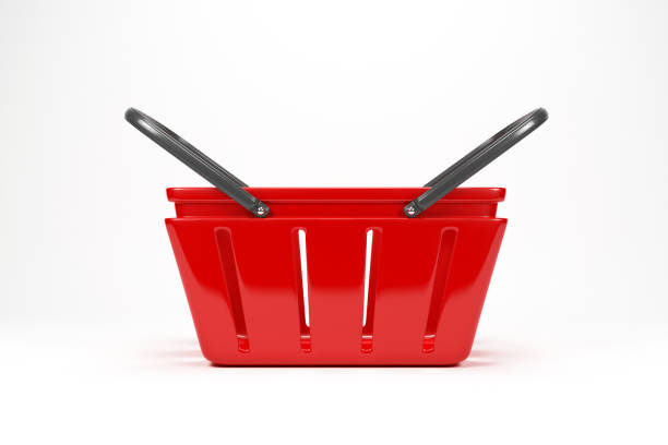 Shoping Basket On White With Clipping Path Shoping Basket On White With Clipping Path shopping basket stock pictures, royalty-free photos & images