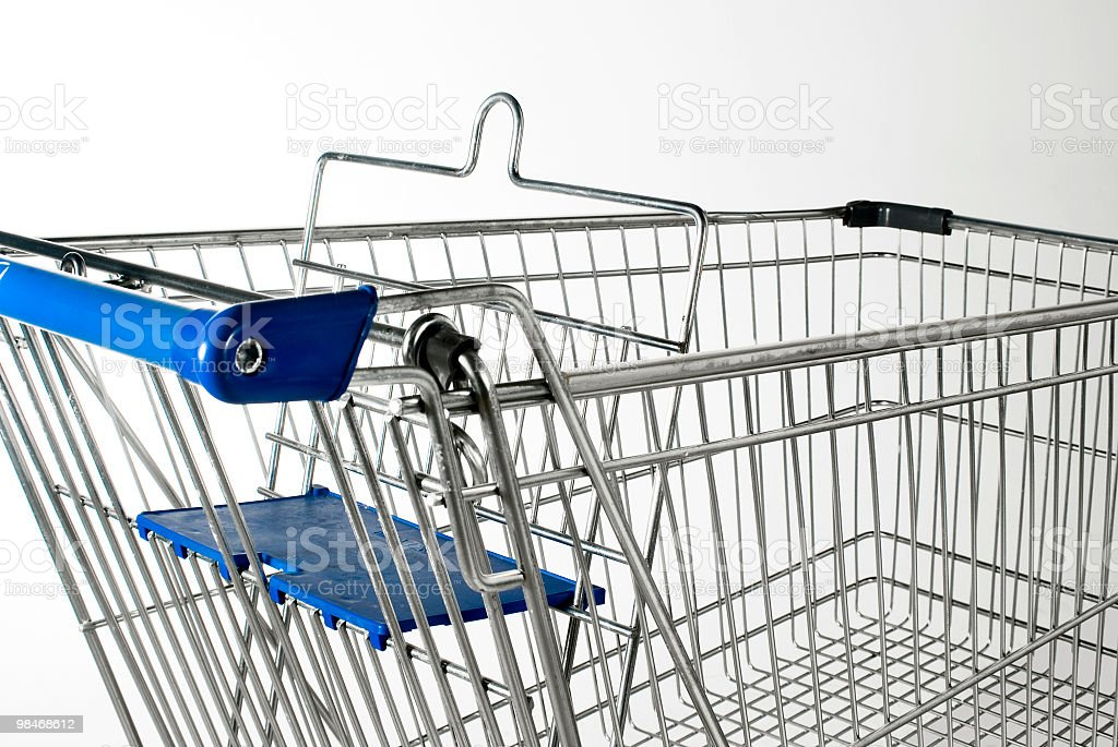 Shoping cart close up royalty-free stock photo