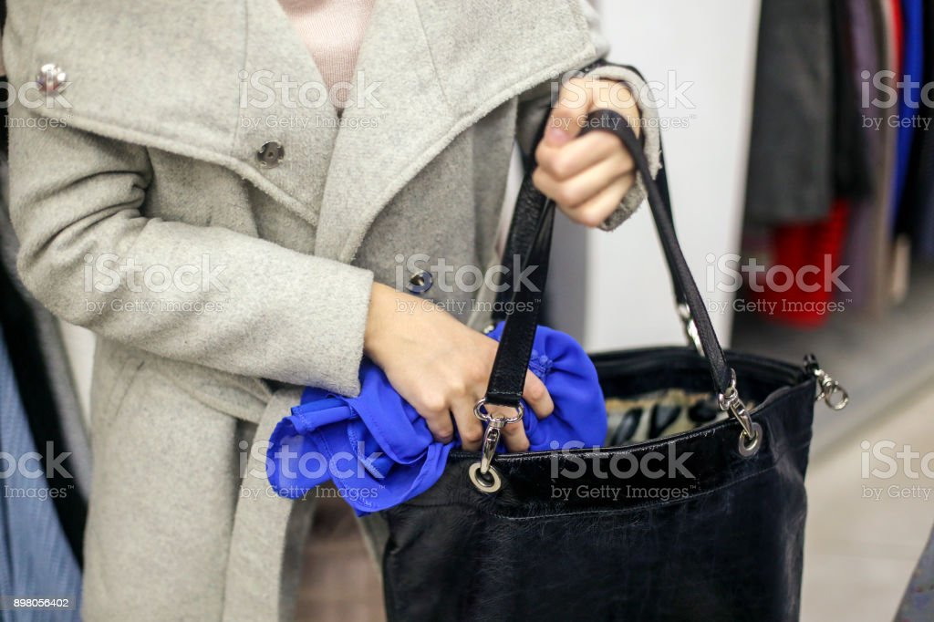 Shoplifting stock photo