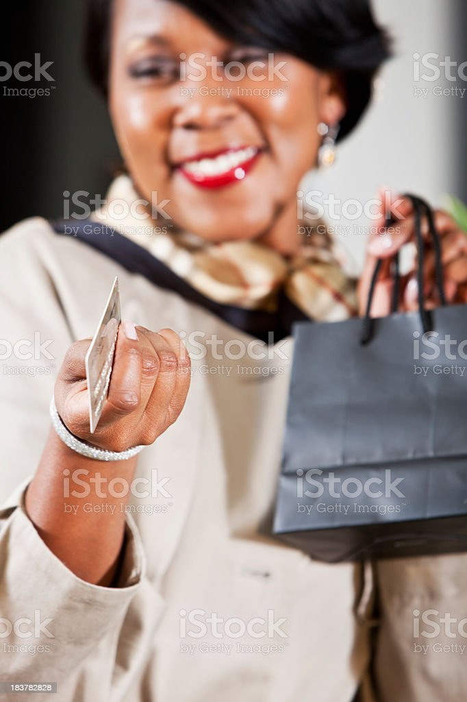 Shopper with creditcard stock photo
