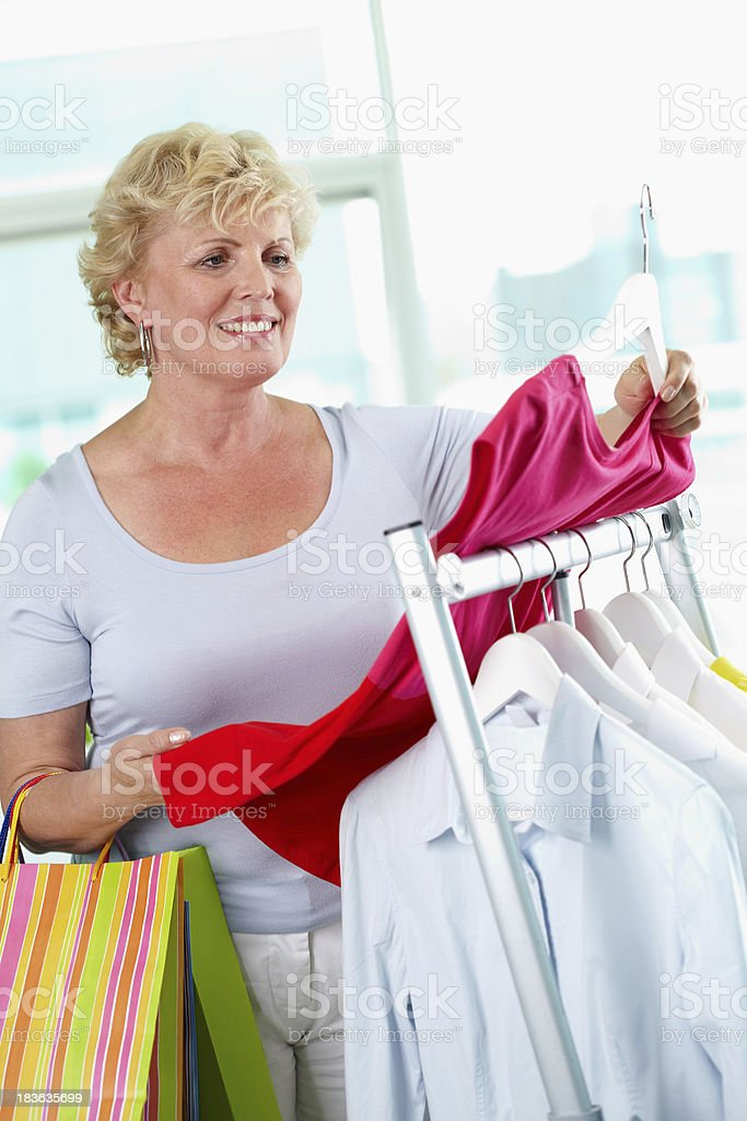 Shopper with tanktop royalty-free stock photo