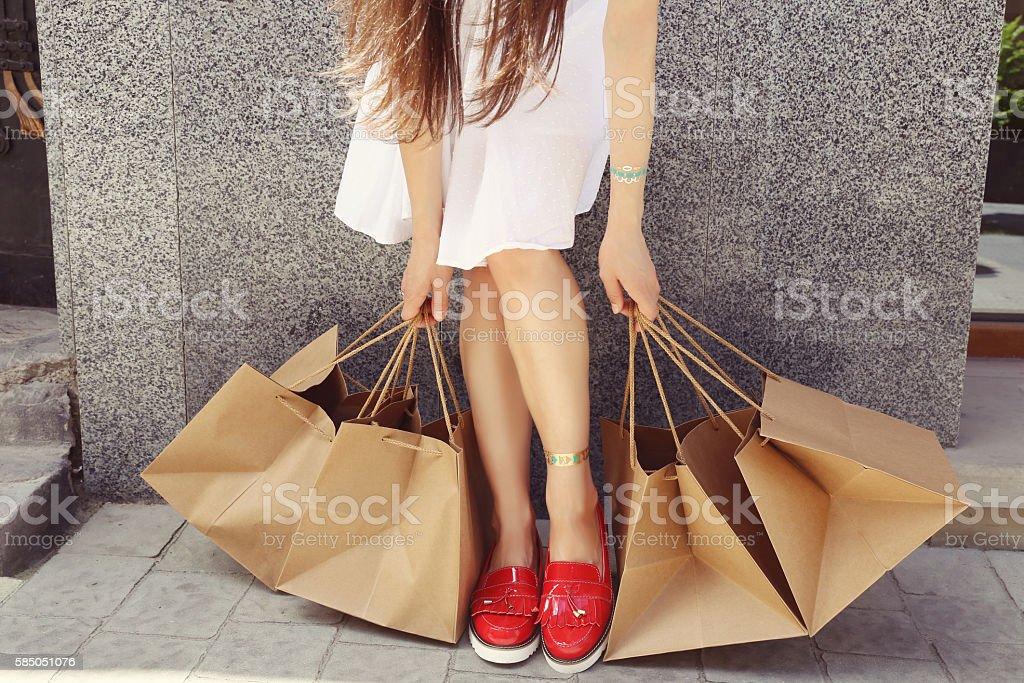 Shopper woman stock photo