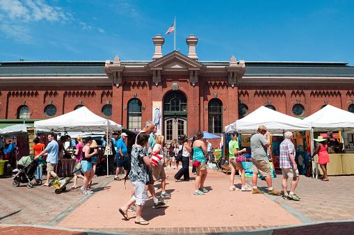 Eastern Market In Washington Dc Stock Photo - Download Image Now