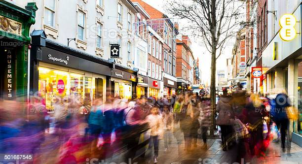 Shoppers Hurry Past In Postchristmas Sales Frenzy 2013 Stock Photo - Download Image Now