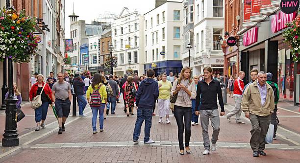 Shoppers in Grafton Street, Dublin, Ireland
