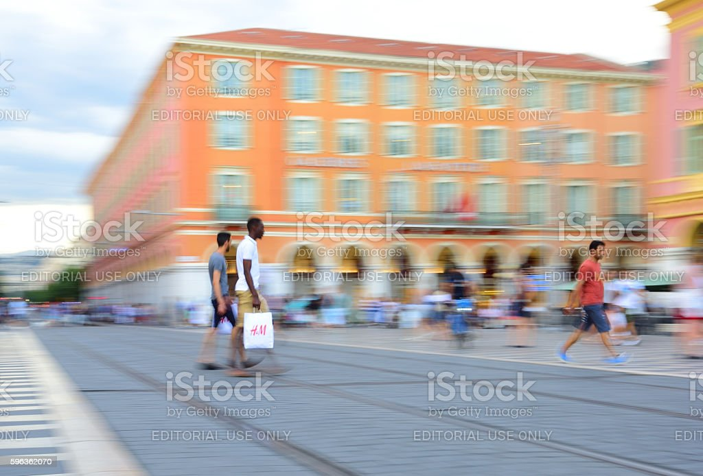 H&M shoppers royalty-free stock photo