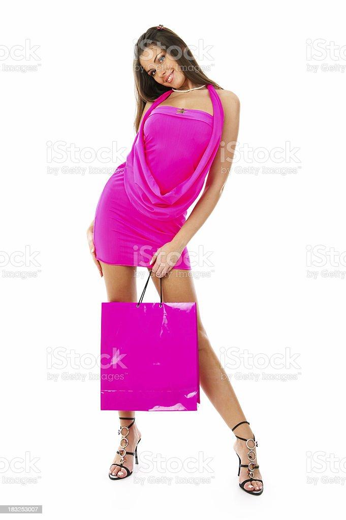Shopping addict stock photo