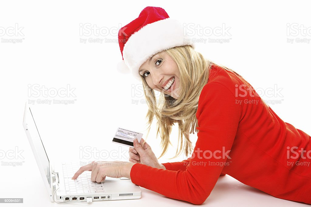 Shopping and banking online easy & secure royalty-free stock photo