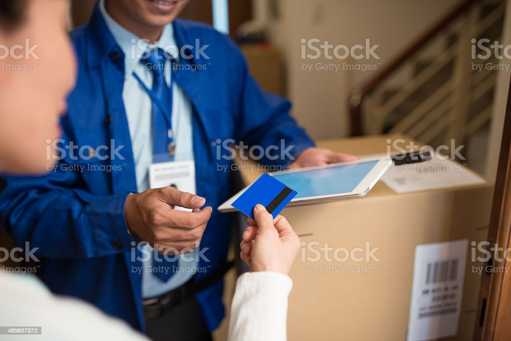 Shopping and delivery concept stock photo