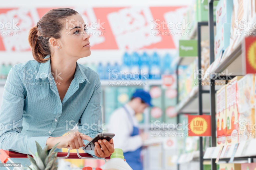 Shopping and mobile apps stock photo