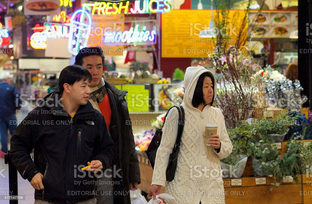 Shopping at the Reading Terminal Market royalty-free stock photo