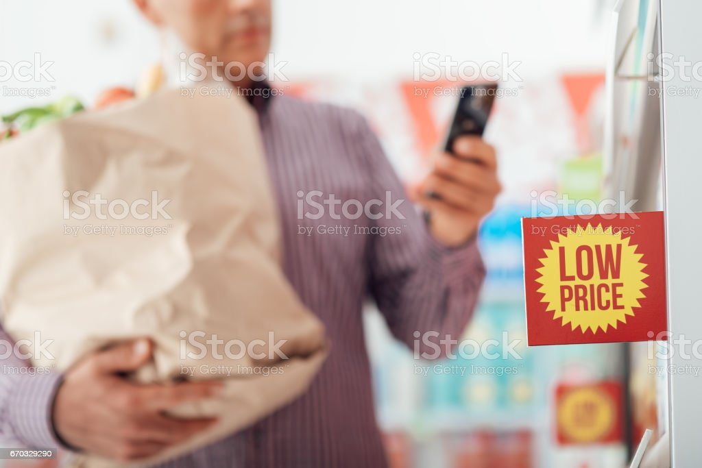 Shopping at the store stock photo