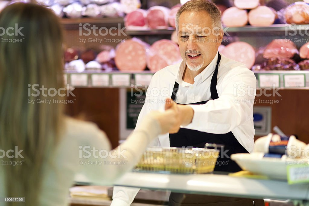 Shopping at the supermarket stock photo