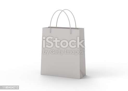 shopping bag, 3d, white background
