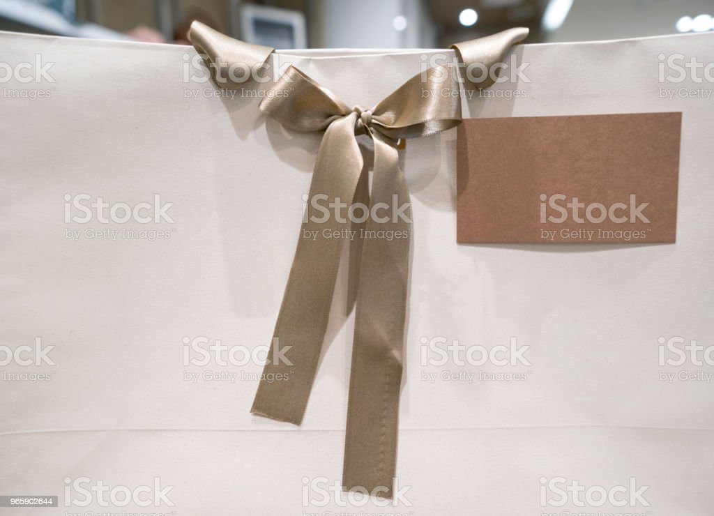 Shopping bag at a store to be given as a gift - Royalty-free Bag Stock Photo
