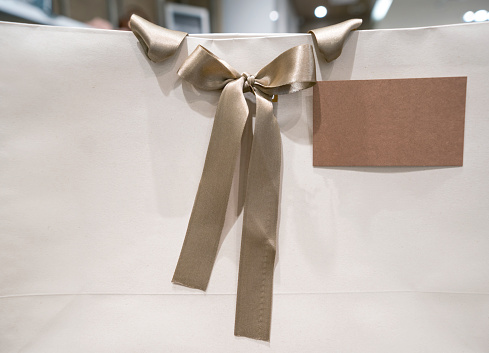 Shopping Bag At A Store To Be Given As A Gift Stock Photo - Download Image Now