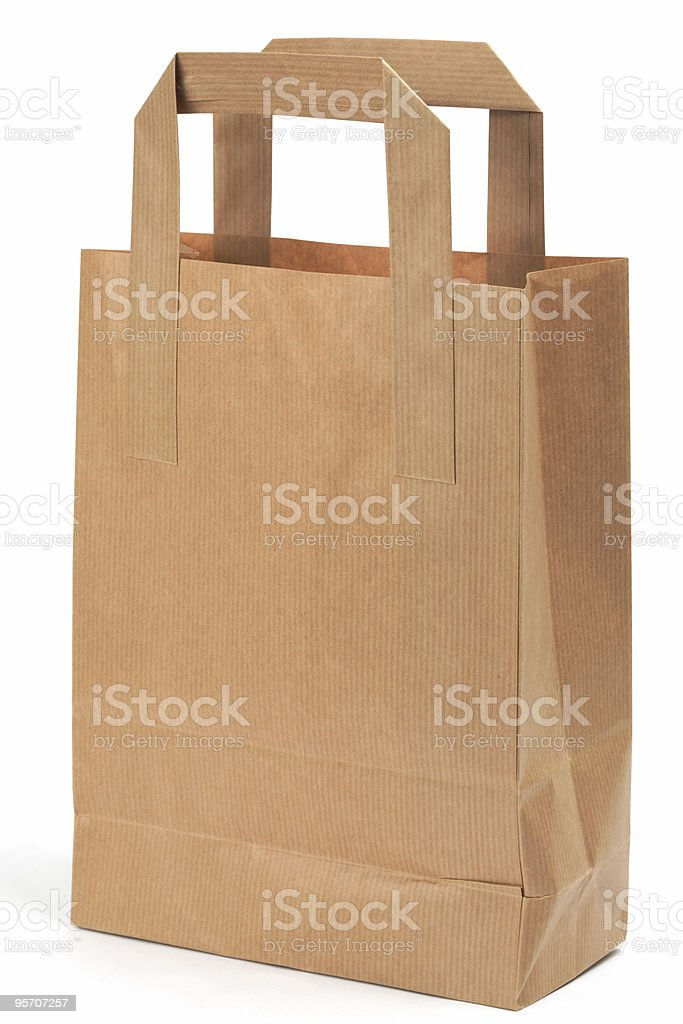 Shopping bag, isolated royalty-free stock photo