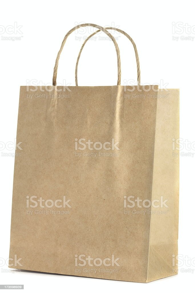 Shopping Bag on White royalty-free stock photo
