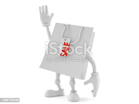 Shopping bag toon isolated on white background