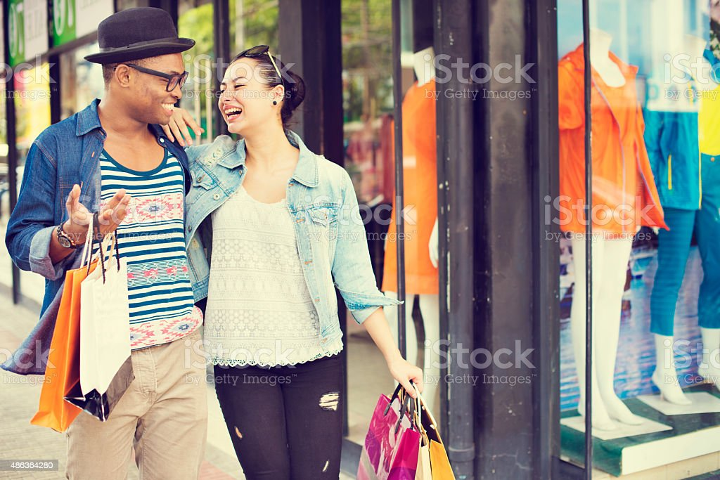 Shopping Bag Tourist Travel Vacation Relaxing Buying Concept stock photo