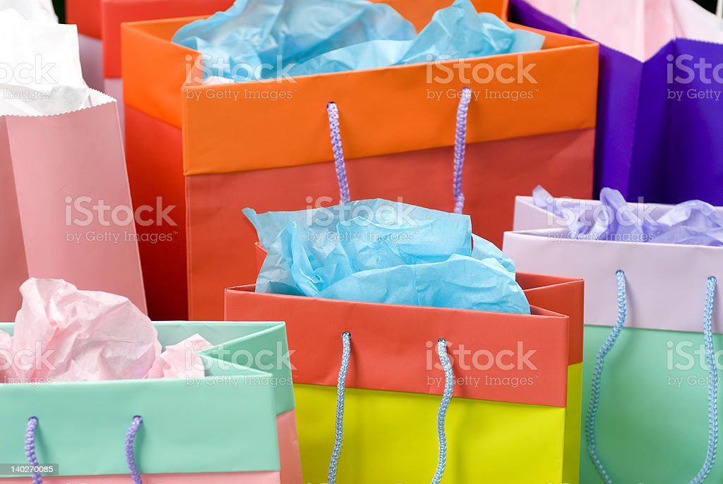 Shopping bags 1 royalty-free stock photo