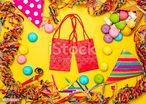 istock shopping bags and event decorations 807096094