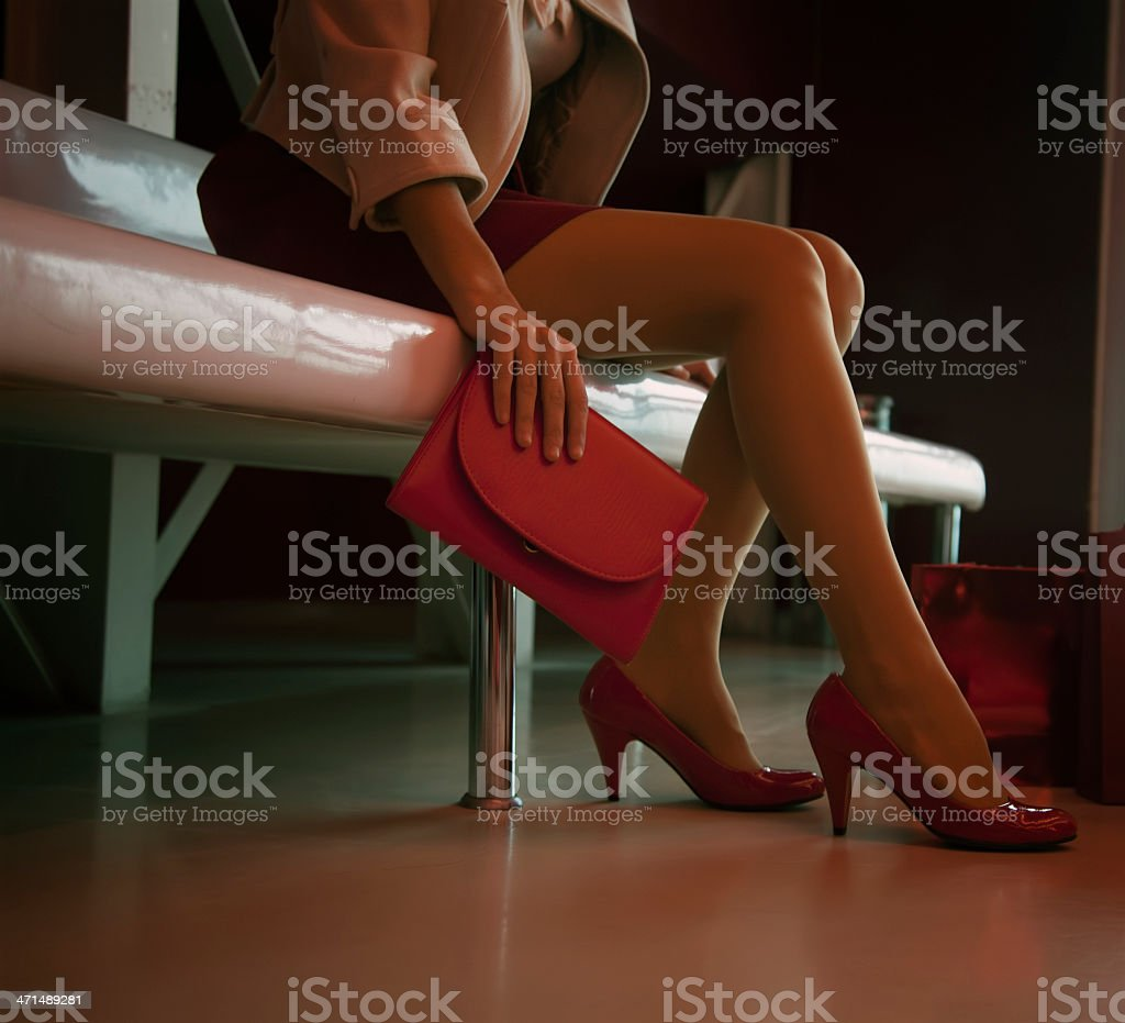 Shopping bags and legs royalty-free stock photo