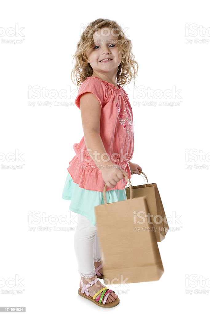 Shopping Bags Girl royalty-free stock photo