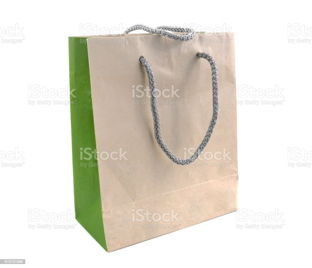 Shopping bags isolated on the white background royalty-free stock photo