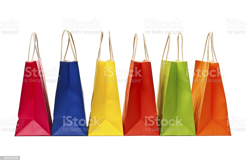 Shopping bags isolated on white royalty-free stock photo