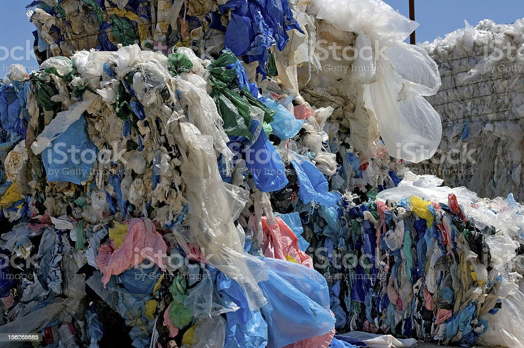 Shopping bags recycling stock photo