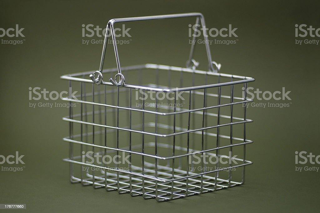 Shopping basket 3 royalty-free stock photo