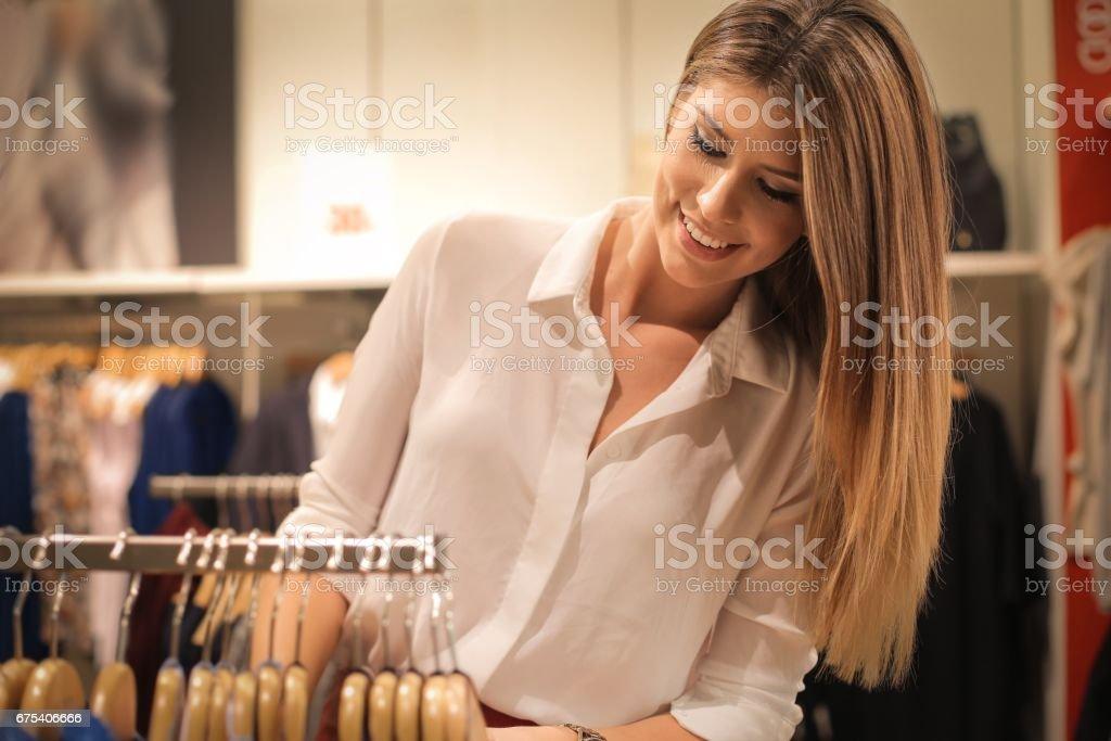 Shopping beauty stock photo