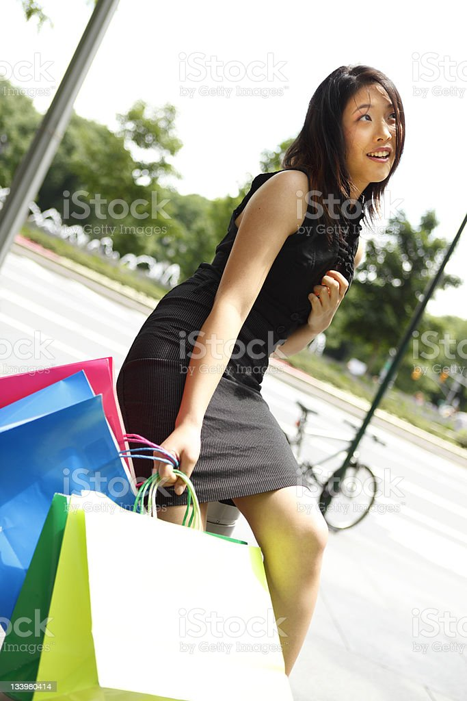 Shopping Break stock photo
