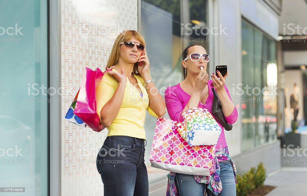 Shopping break royalty-free stock photo