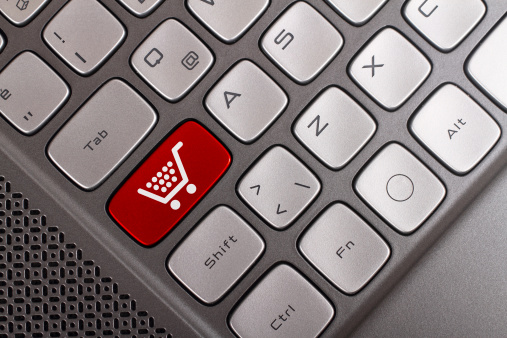 Shopping Button Stock Photo - Download Image Now