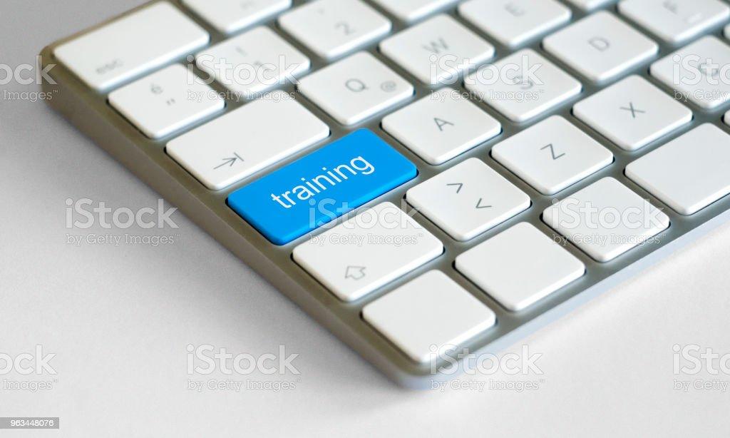 Eğitim düğmesi vurgulanmış ile alışveriş buttonKeyboard - Royalty-free Anahtar Stok görsel