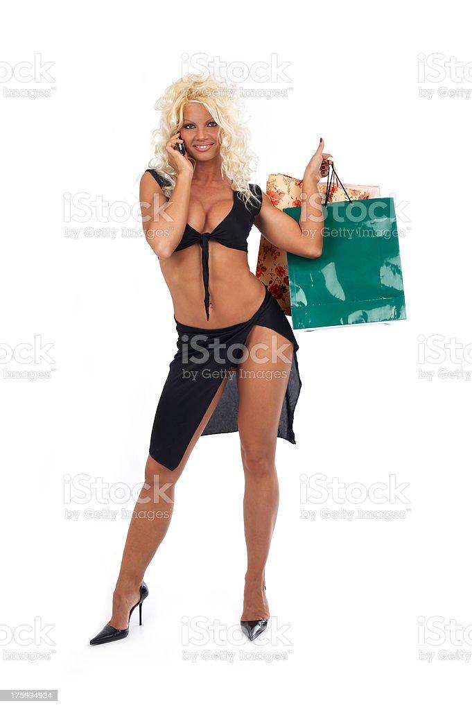 Shopping call stock photo