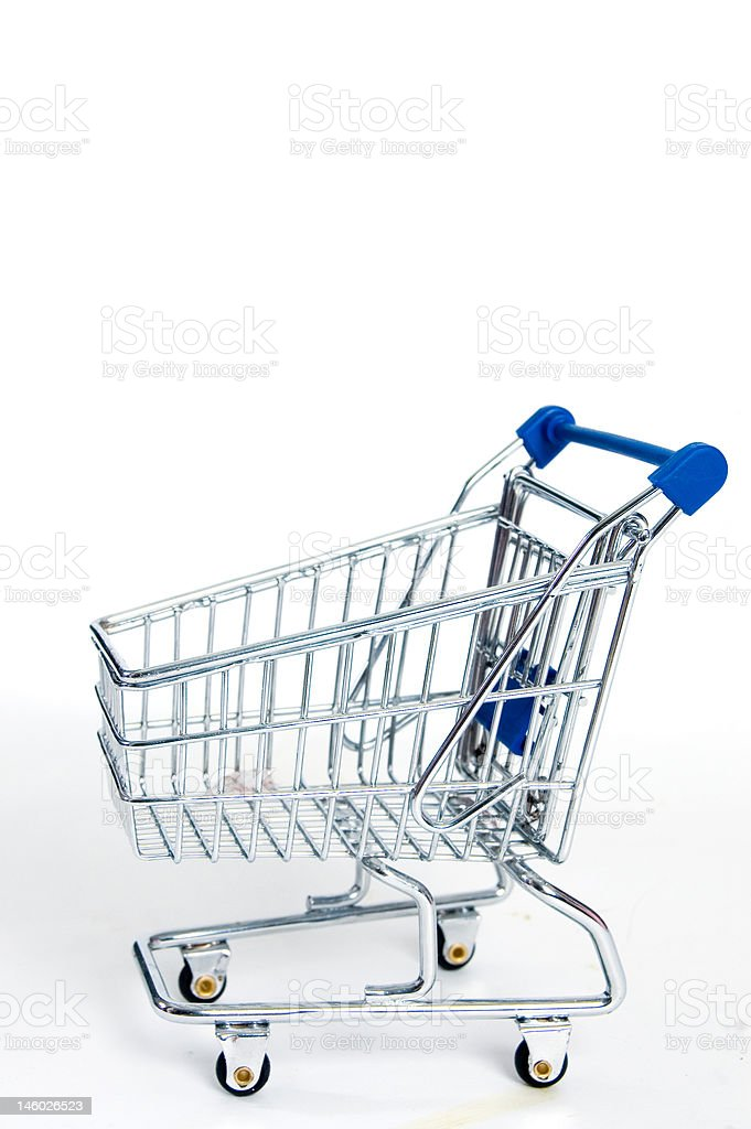 shopping car isolated on white royalty-free stock photo
