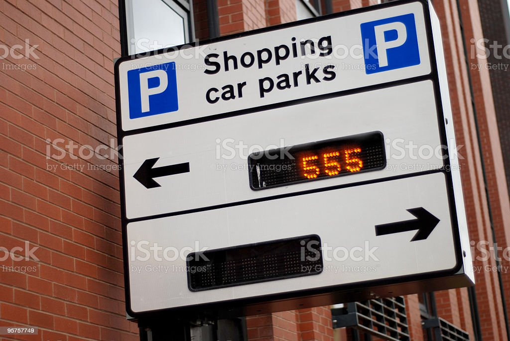 Shopping car parks sign royalty-free stock photo
