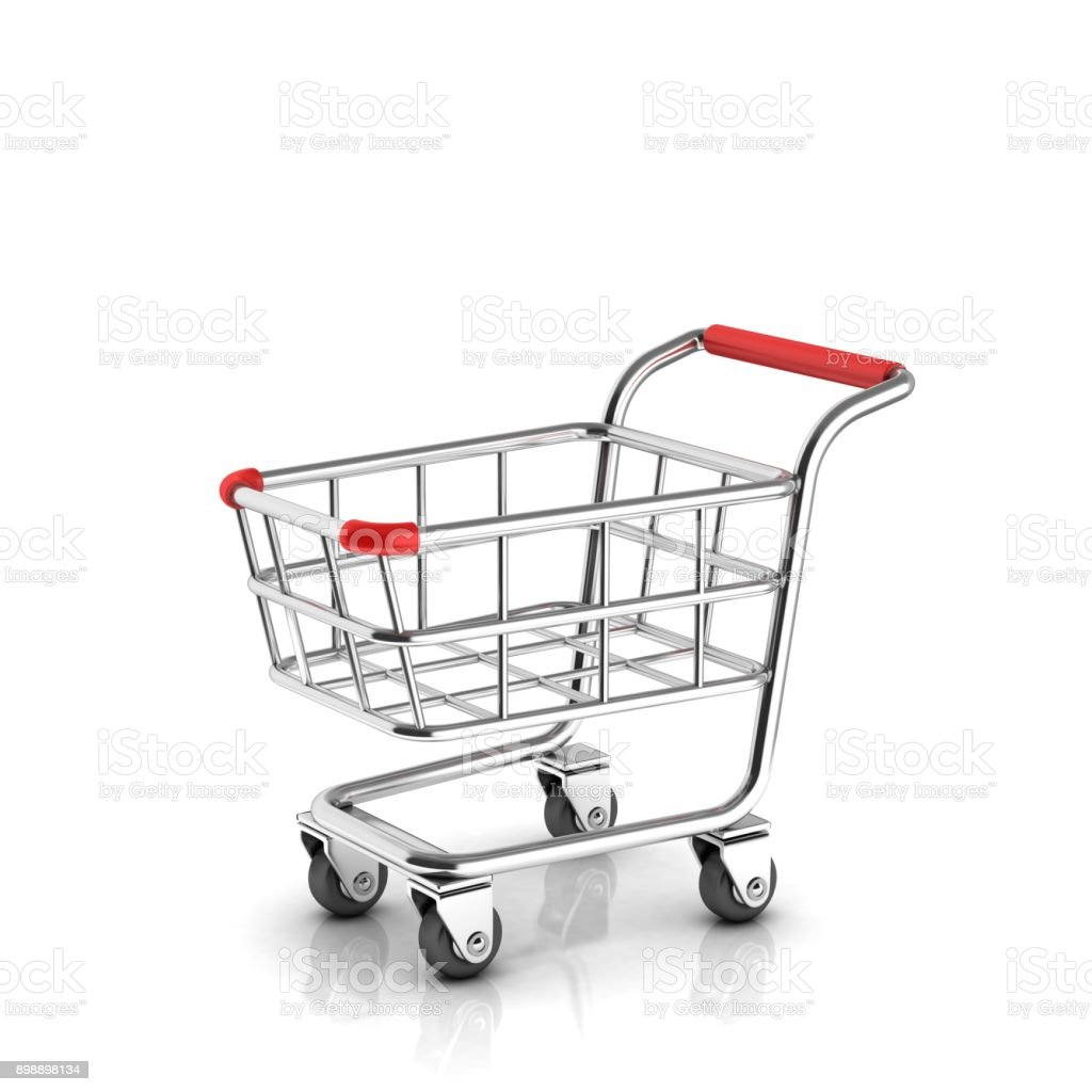 Shopping Warenkorb Symbol isoliert 3D-Illustration – Foto