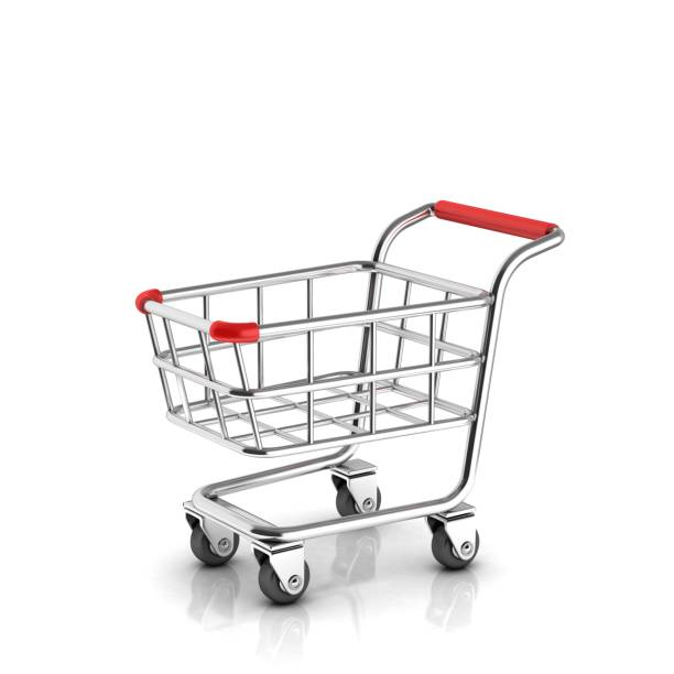 Shopping cart 3d icon isolated illustration Shopping cart 3d icon isolated illustration cart stock pictures, royalty-free photos & images