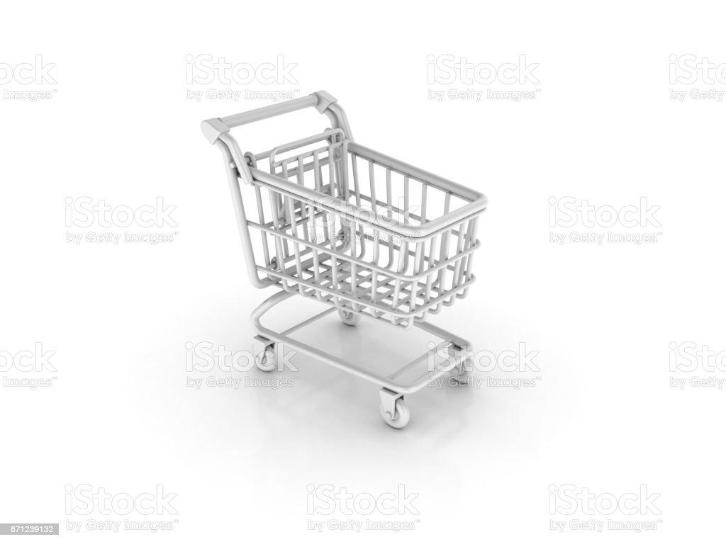 Shopping Cart - 3D Rendering stock photo