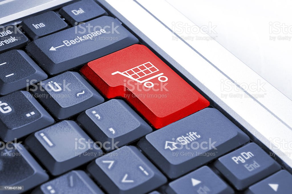 Shopping Cart and E-commerce stock photo