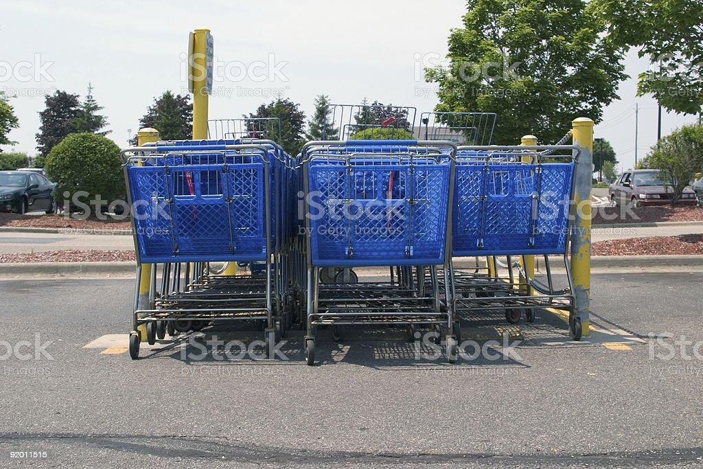 Shopping Cart Corral royalty-free stock photo