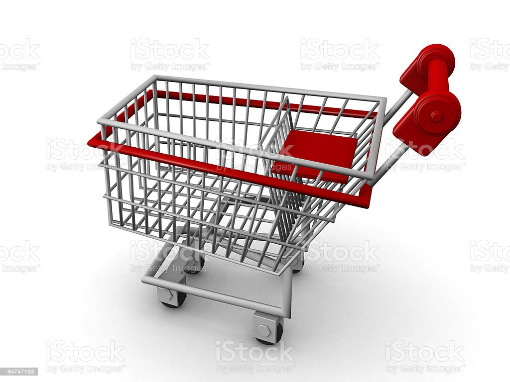 Shopping cart ecommerce concept royalty-free stock photo