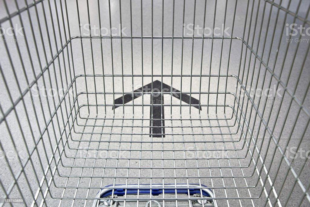 Shopping Cart Following The Way stock photo